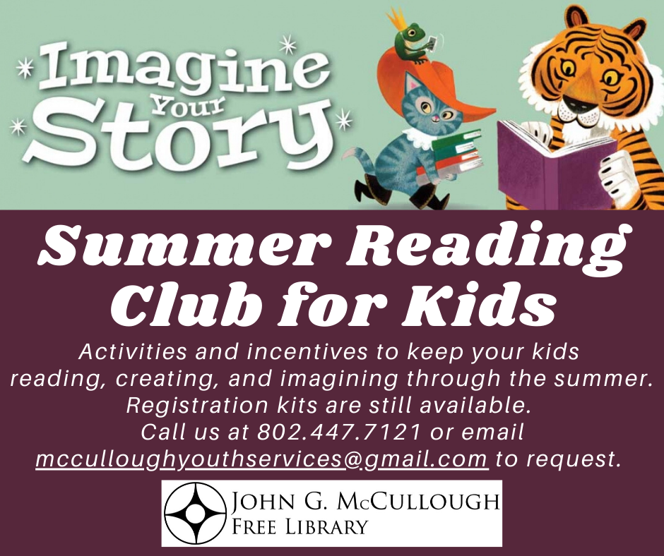 Summer Reading Club for Kids. Activities and incentives to keep your kids reading, creating, and imagining through the summer. Kits are still available.